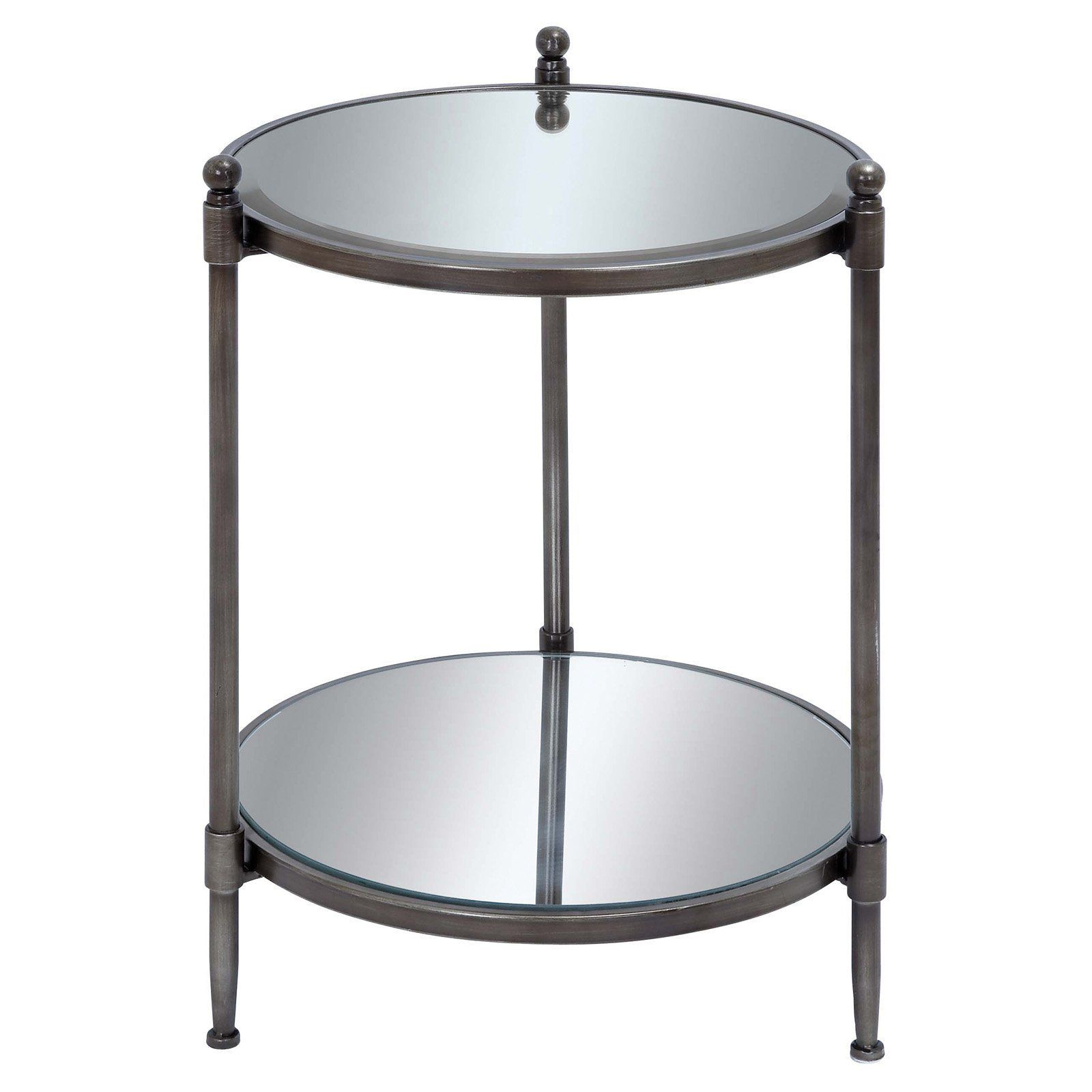uma enterprises glass top round accent table from hayneedle com rh pinterest com