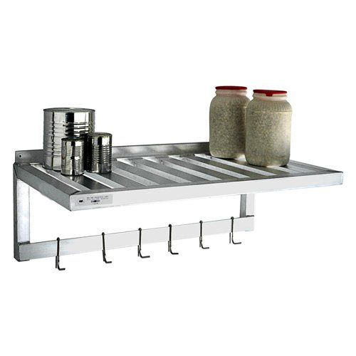 one of my favorites  New Age Industrial T-Bar Series 36 in. Wall Shelf | from hayneedle.com