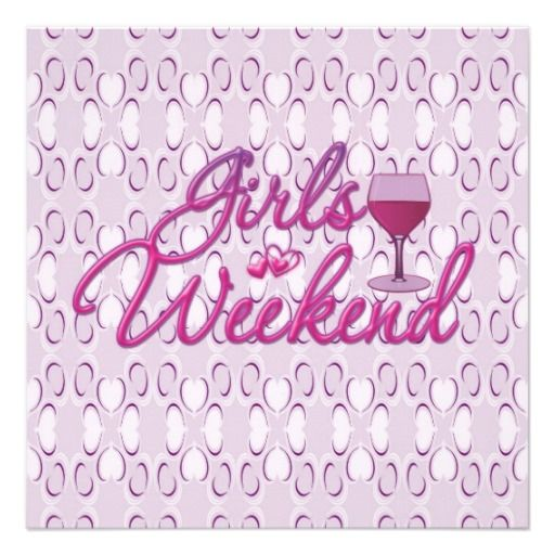 girls weekend girls night out party celebration invitation ...