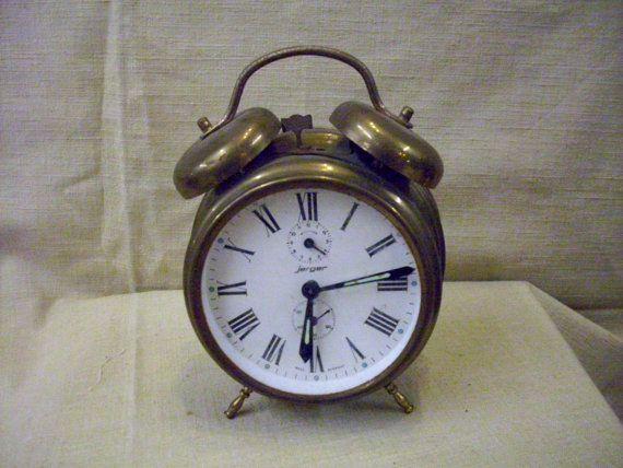Vintage Jerger Alarm Clock by alongmemorylaneantiq on Etsy, $24.00