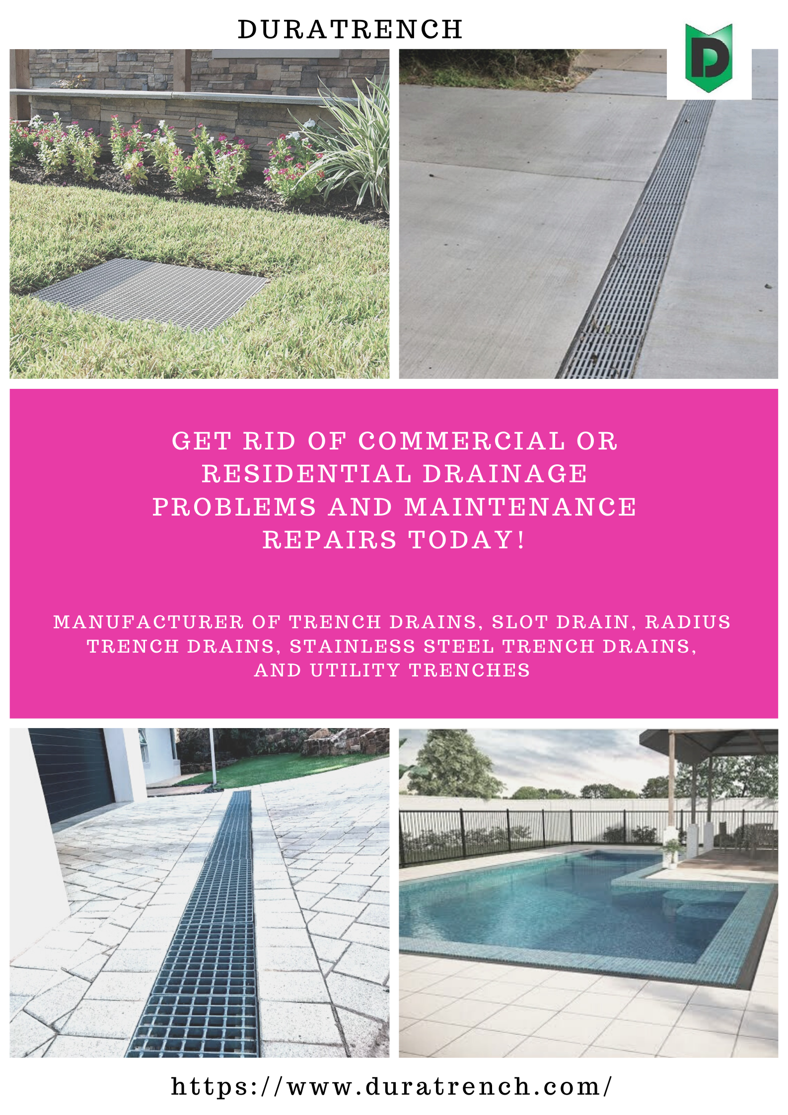 Flooding Of Roadways Can Usually Be Fixed Using Efficient Drainage System Drains Can Become Blocked Very Quickly When Materials Lik Drains Trench Drain Drain
