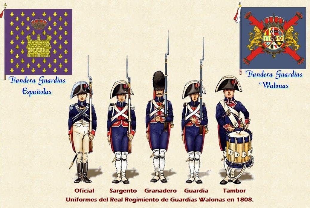 Resultado de imagen de regimiento guardias valonas