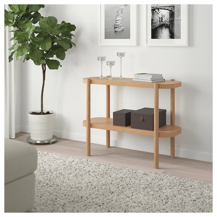 Listerby Console Table White Stained Oak 36 1 4x15x28 Ikea Oak Console Table Console Table Console And Sofa Tables