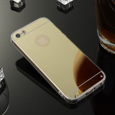 Luxury High-end Atmosphere Mirror Slim Cell Phone Case For Apple iPhone 5 5S / iPhone SE Soft Silicone Frame Protect Back Cover