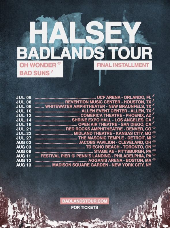 Pin by MADDIE on halsey (closed) Badlands, Halsey