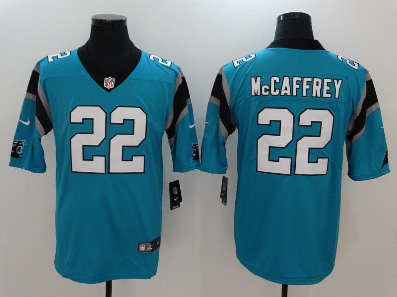 84e4d1247 Men Carolina Panthers 22 Mccaffrey Blue Nike Vapor Untouchable Limited NFL  Jerseys