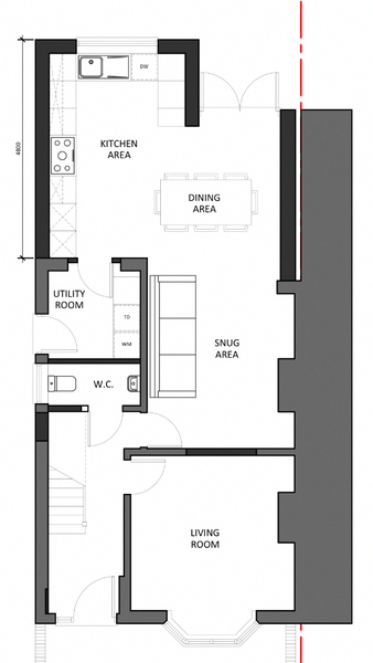 Need Professional Advice In Addition To Some Tips On Kitchen Decor Kitche In 2020 Open Plan Kitchen Living Room Open Plan Kitchen Dining Living House Extension Plans