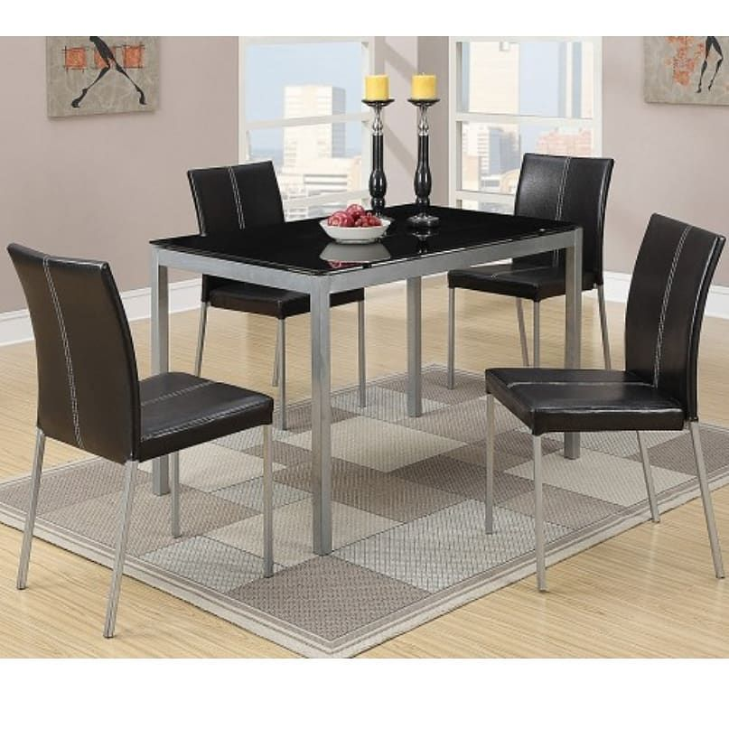 Sale Of The Week 5 Pc Dinette Set 299 Delivery Assembly Available 90 Days Same As Ca Affordable Dining Room Sets Glass Dining Set Dining Room Sets