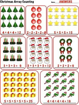 christmas array counting 2nd grade math common core 2 oa 4 math common cores and christmas. Black Bedroom Furniture Sets. Home Design Ideas