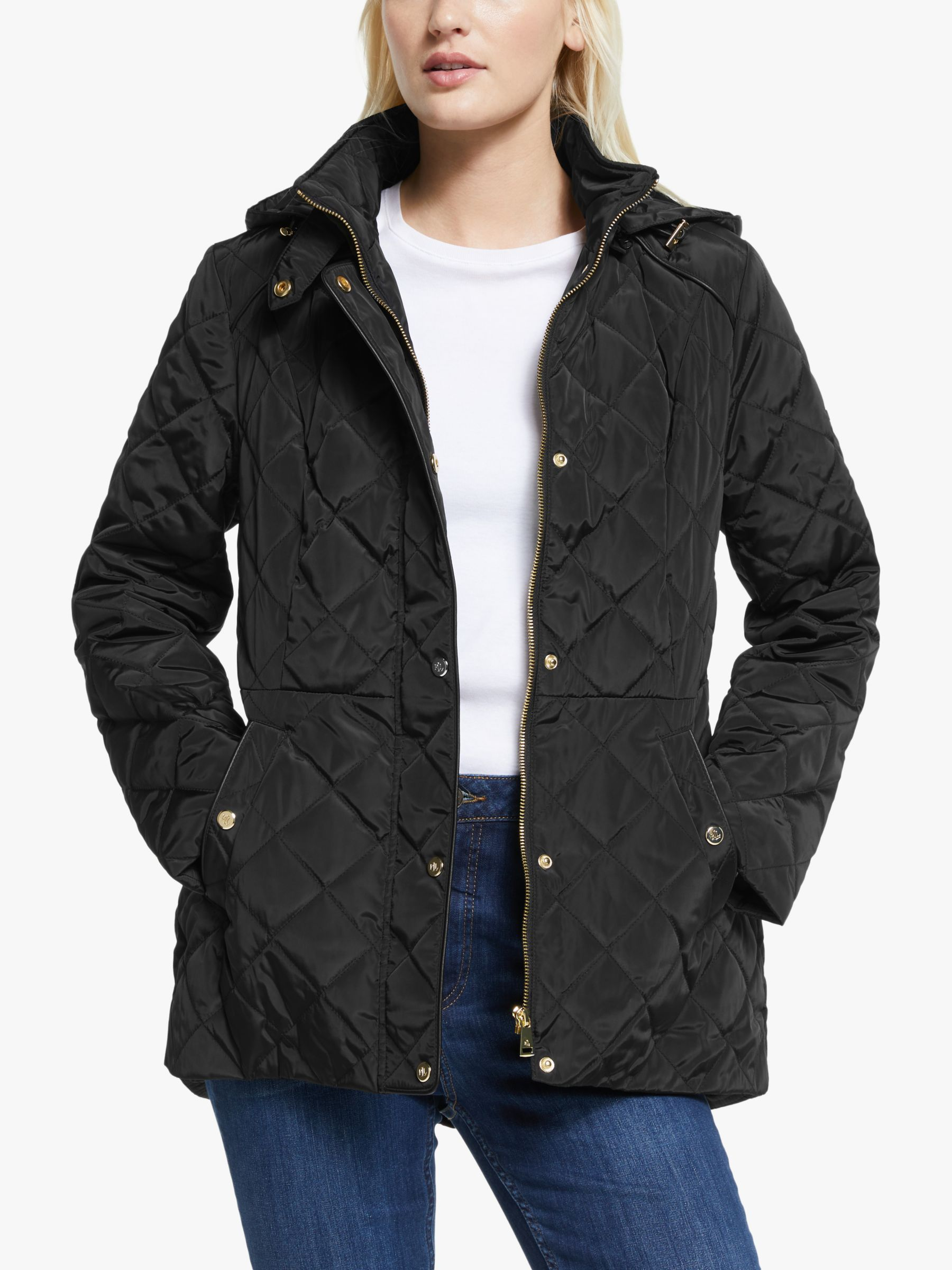 Lauren Ralph Lauren Moto Quilted Jacket Black In 2020 Quilted Jacket Jackets Ralph Lauren