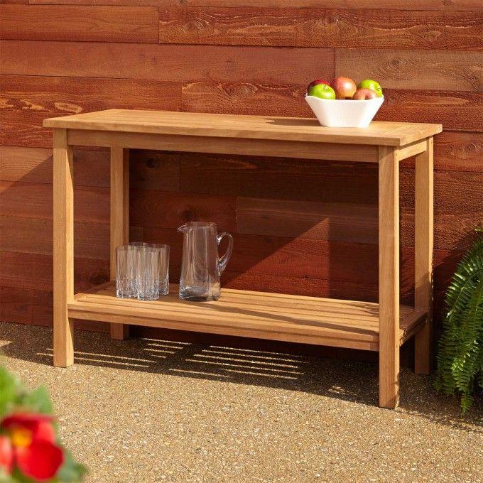 Lexington Teak Outdoor Buffet Table PorchPatio Furniture - Teak outdoor buffet table