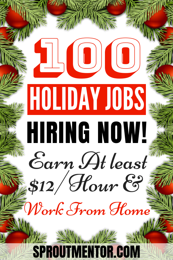 100 Work From Home Companies That Are Always Hiring For Remote Jobs Seasonal Jobs And Part Time Work From Home Holiday Jobs Seasonal Jobs Work From Home Jobs