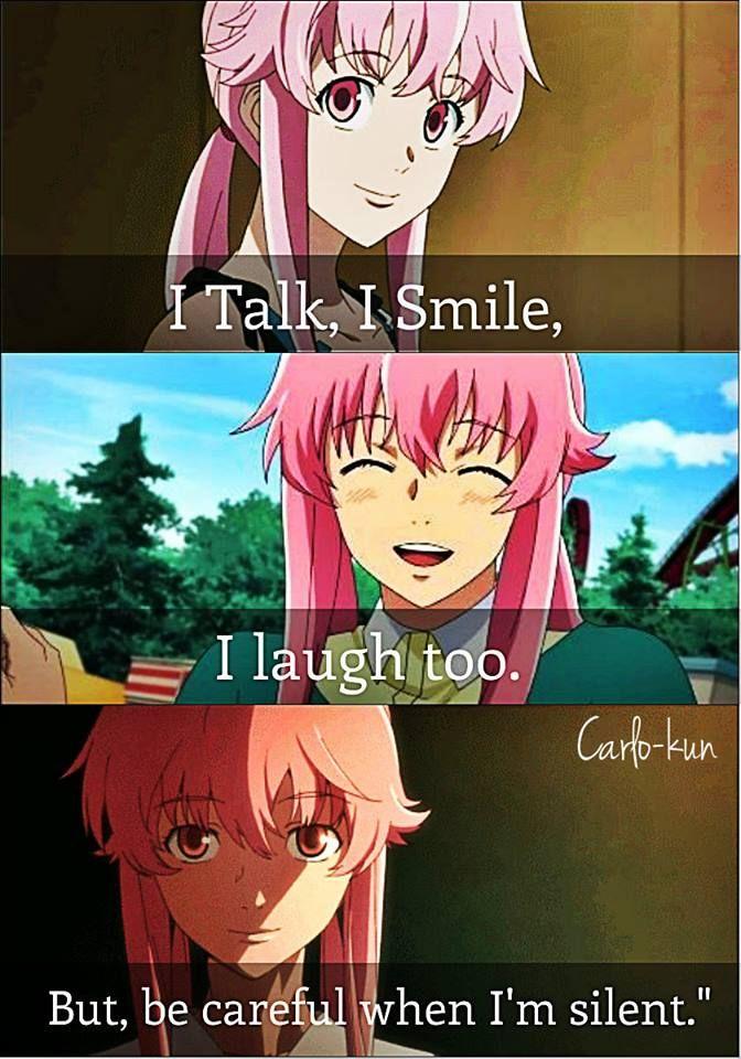 Mirai Nikki Quotes: Anime, Mirai Nikki