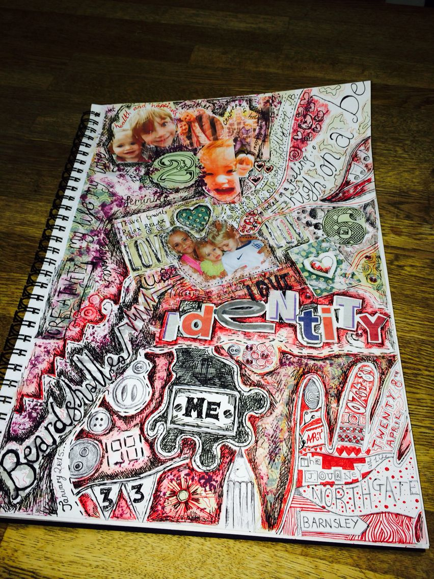 Identity Mind Map Mind Map Art Gcse Art Sketchbook Sketch Book