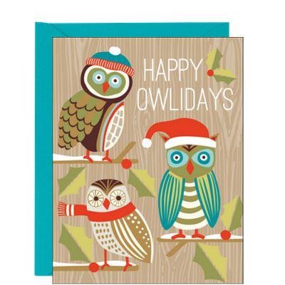 Happy Owlidays Holiday Card #Smartpress @Smartpress.com.com