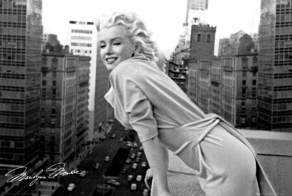 Marilyn Monroe Balkon Plakat Marilyn Monroe Classic Movie Stars Hollywood Icons