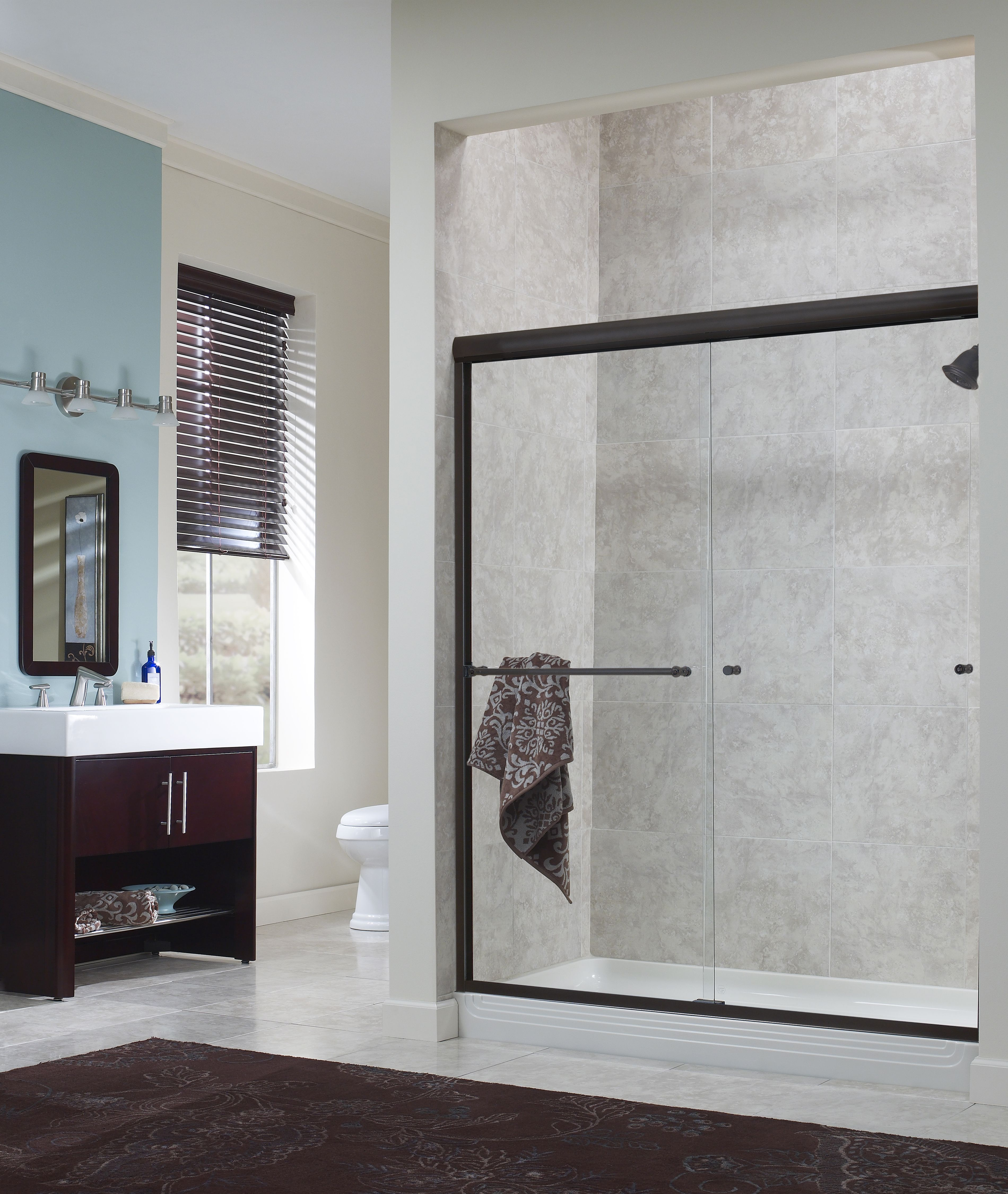 Awesome Foremost International   Cove 44 Inch To 48 Inch X 72 Inch H. Frameless  Sliding Shower Door In Oil Rubbed Bronze With Inch Clear Glass     Home  Depot Canada
