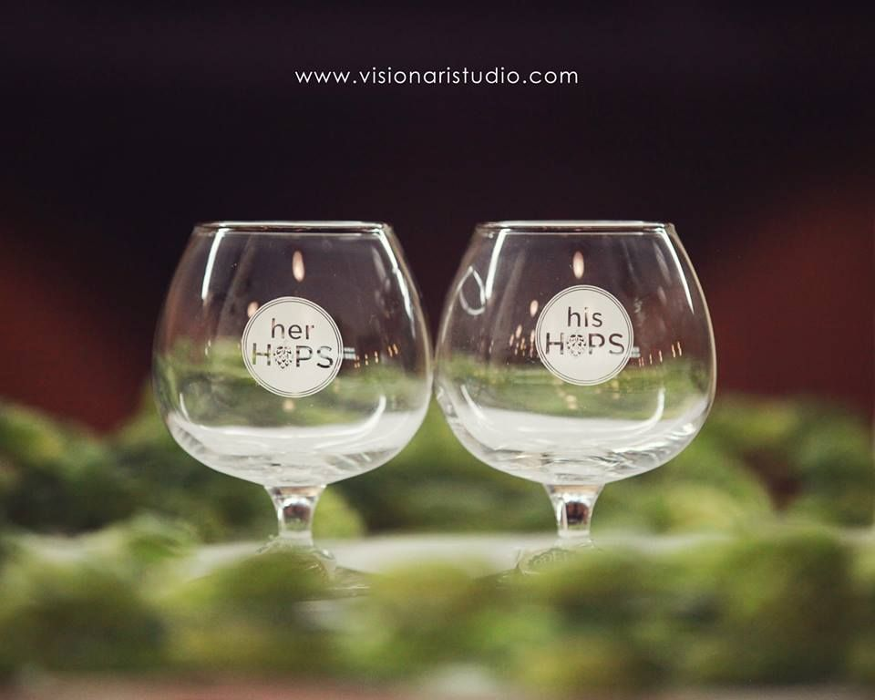 His & Her Hops glasses!