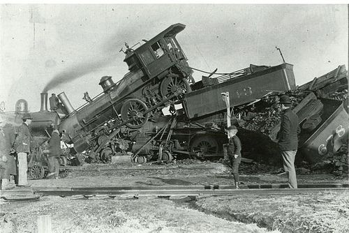 Image result for train wreck, history, photos