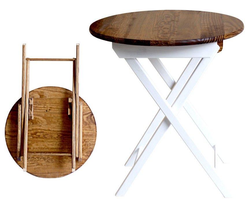 ARTCROMO mesita-auxiliar-plegable-blanca--madera Sala - mesitas de madera