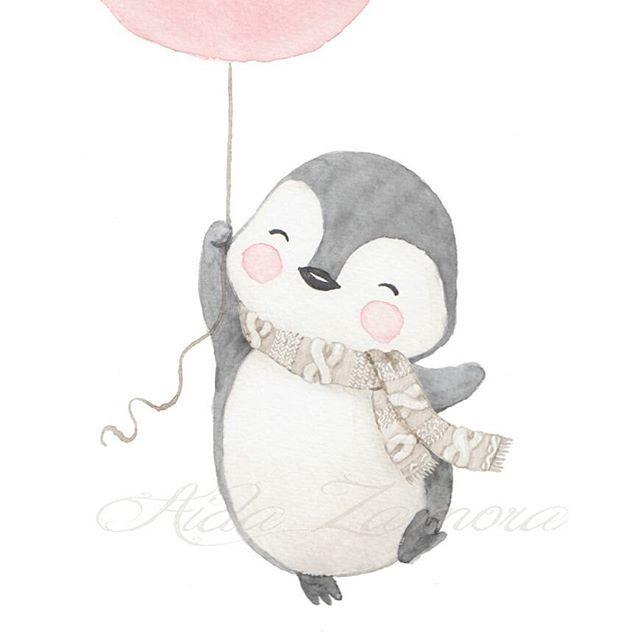 Nueva lámina infantil de la colección INVIERNO! Un pingüino feliz ...