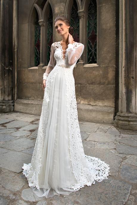 2ba86219d672 Svadobné šaty s rukávmi - na mieru