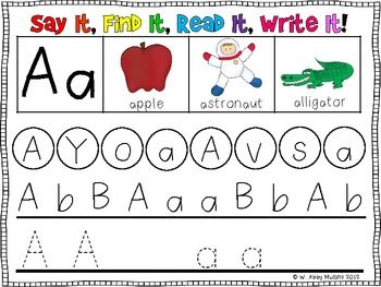 Kindergarten Rti Letter Recognition  Identification Intervention