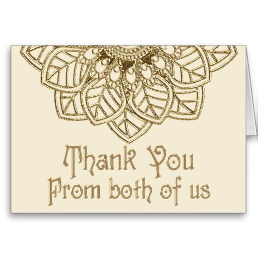 Mehndi Lace Thank You Note Card  Lace Stationery And Note