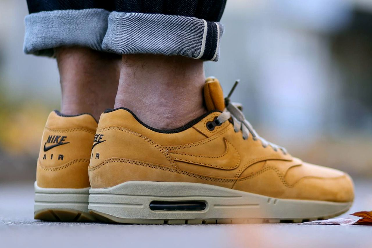 NIKE AIR MAX 1 LEATHER PREMIUM 'WHEAT' (via Kicks