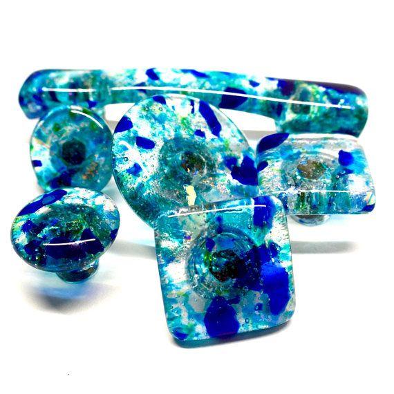 exquisite handmade art glass cabinet hardware knobs handles