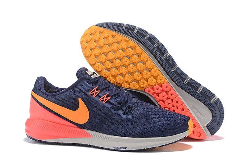 b24e16441d1 Nike Air Zoom Structure 22 Dark Blue Orange-Orange Red AA1636-400 Men s  Running Shoes In Stock