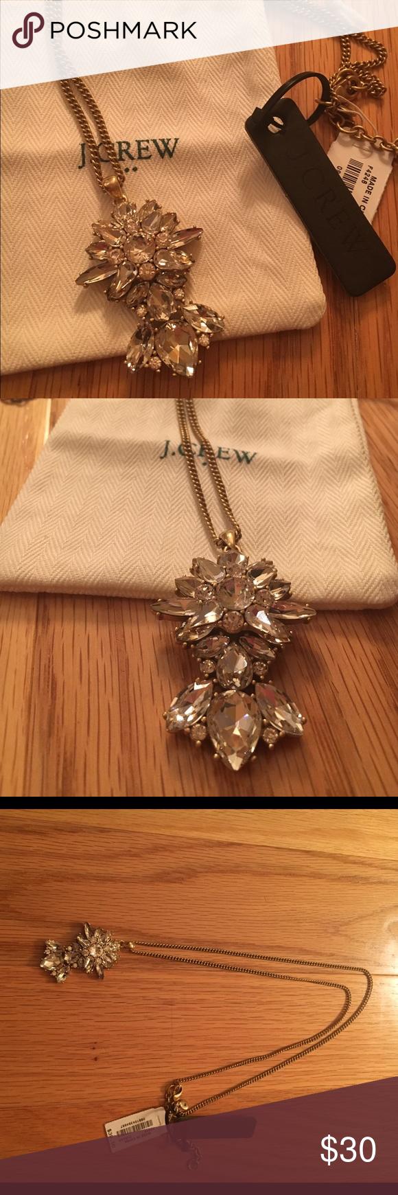 Newjcrew crystal pendant necklace nwt crystal pendant