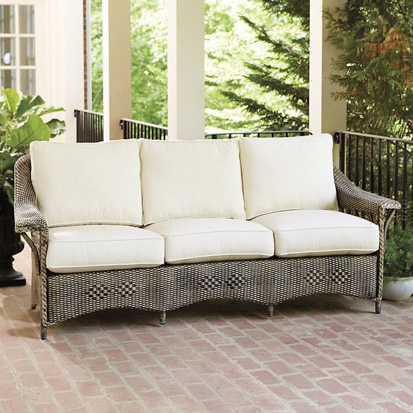 Ballard Designs Lake George Outdoor Sofa 2199 Liked On Polyvore Featuring Home