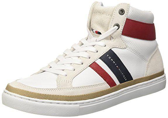 Tommy Hilfiger Herren M2285aze 2 Hohe Sneakers Rot Rwb 020 43 Eu Tommy Hilfiger Schuhe Schnurschuhe Laufschuhe