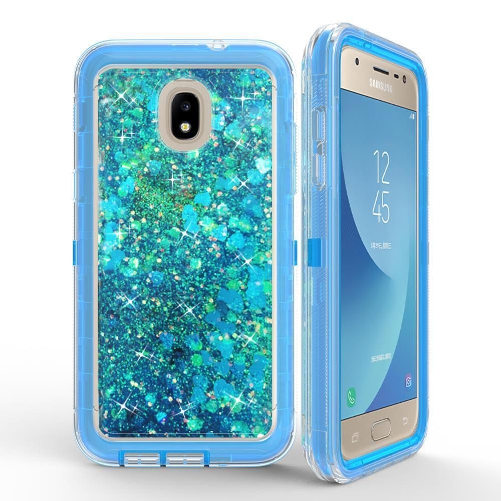 meet 49b94 5bd2e For Samsung Galaxy J3 / J7 2018 Glitter Liquid Quicksand Case Fit ...