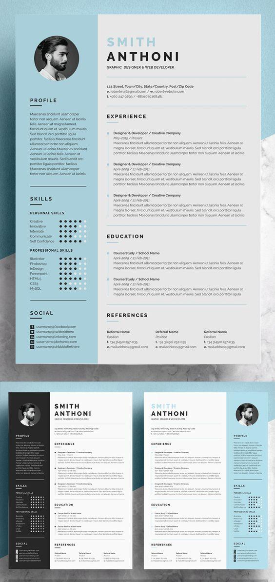 Modern Resume Template Microsoft Word Free Resume Template Etsy Resume Design Professional Resume Design Template Graphic Design Resume