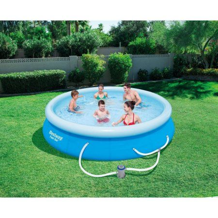 Bestway Fast Set 12 X 30 Swimming Pool Set With Filter Pump Walmart Com Above Ground Swimming Pools Swimming Pools In Ground Pools