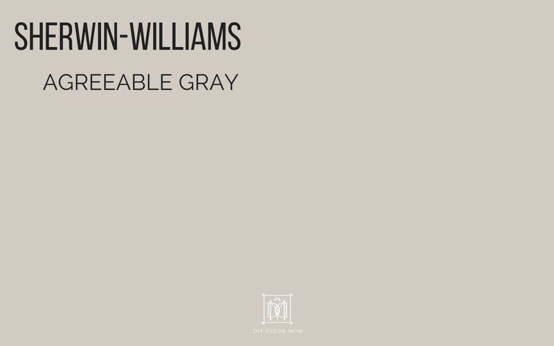 SHERWIN WILLIAMS Agreeable Gray Paint Color #sherwinwilliamsagreeablegray