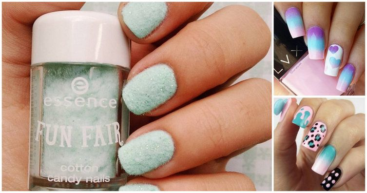 nice Sweet Cotton Candy Nail Colors and Designs - Sweet Cotton Candy Nail Colors And Designs Nail Designs