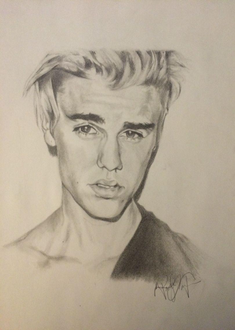 justin bieber 2015 graphite drawing