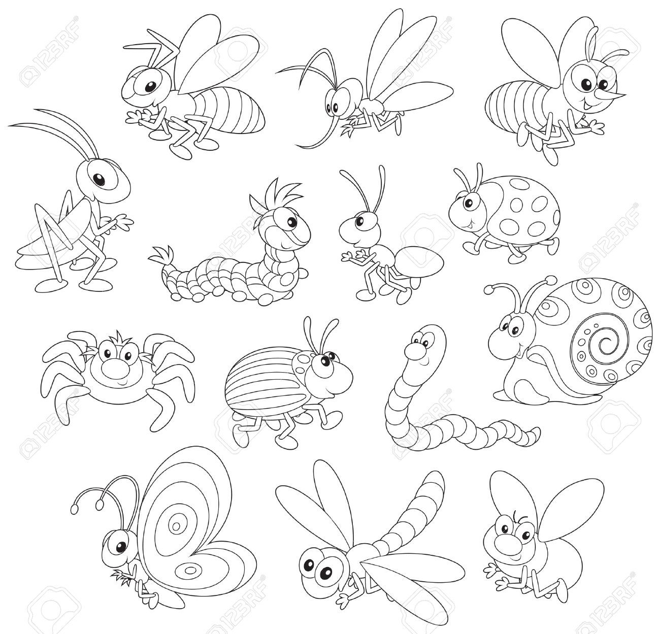Insects Insect Art Projects Outline Illustration Insect Art