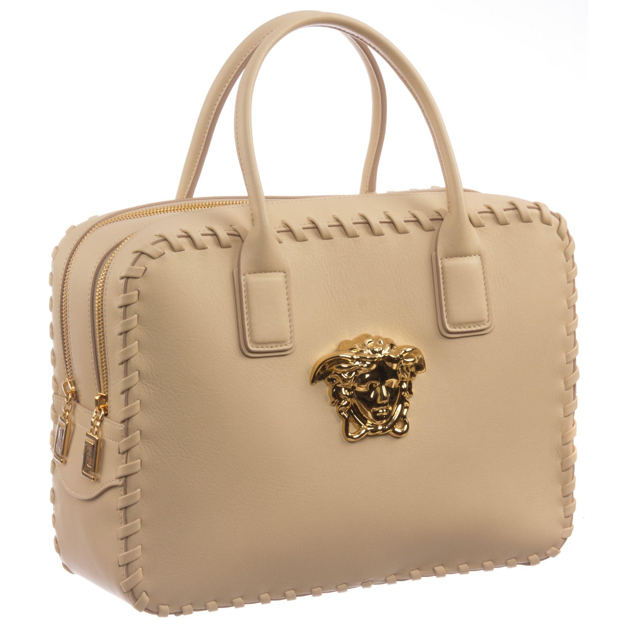 Versace Signature Medusa Lock Leather Handbag-K240H Cuero Auténtico a9e45f31162ba