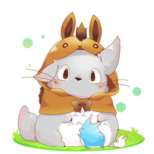 Totoro for this 2014, the year of the horse トトロ, かわいい動物の