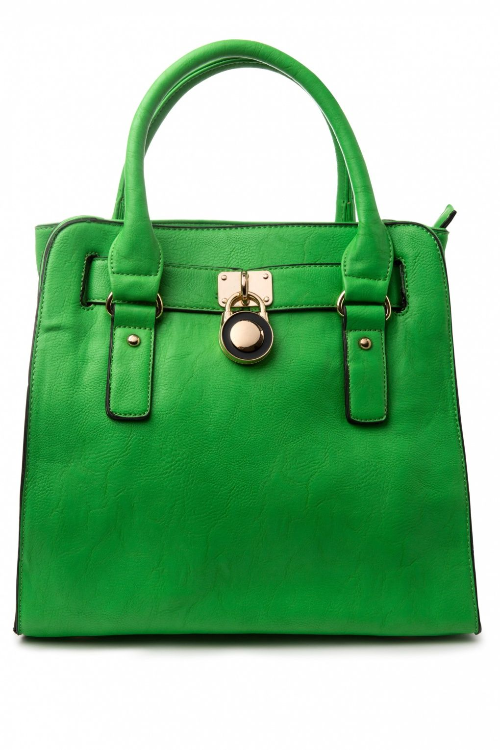 Milan - 60s Essential Shopping Friend Bright Green Handbag ...