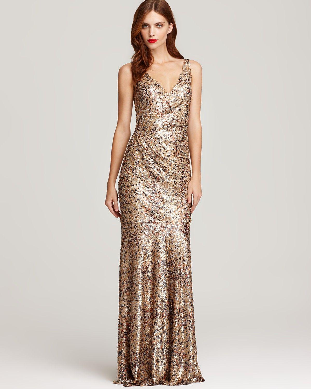 David Meister Sequin Tank Gown - Dresses - Apparel - Women\'s ...