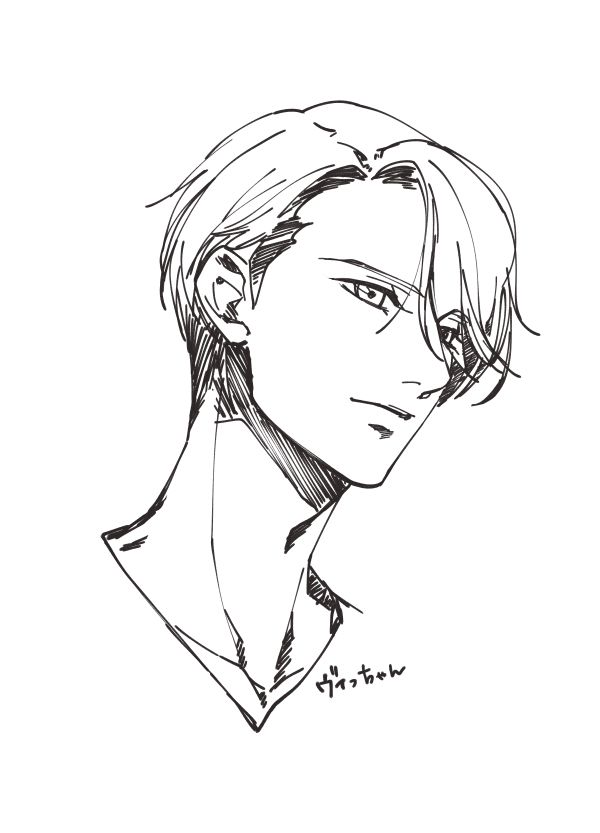 Victor Nikiforov - Yuri!!! on Ice by ぬいえもん on pixiv  I'm so sorry for the Yuri spam but I'm just so in love, in almost done w it and I want to cry