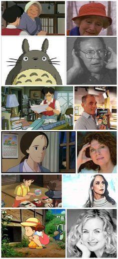 My Neighbor Totoro Characters American Voice Actors Filmes De Animacao Animacao Filmes