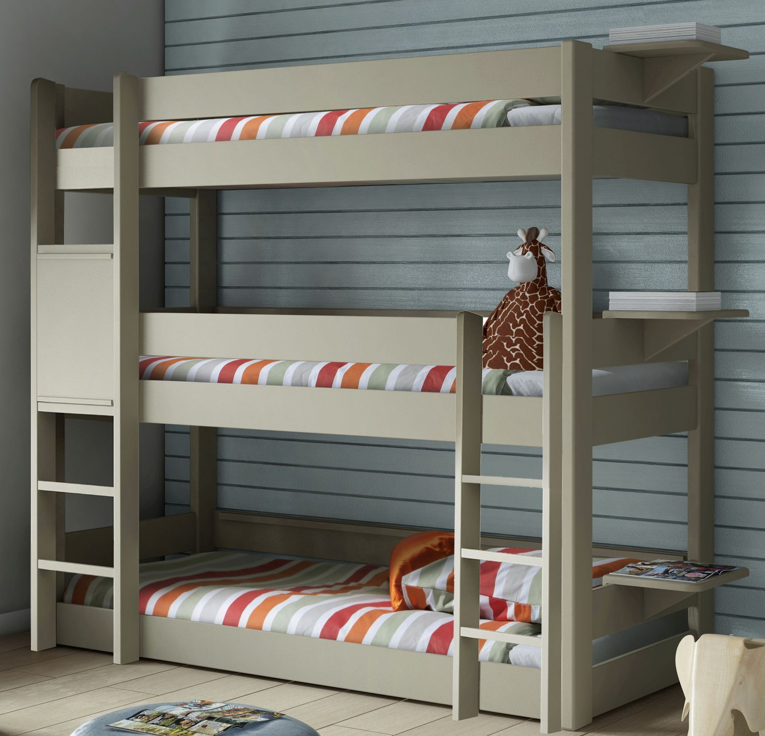 Single bed / triple bunk / contemporary / child's