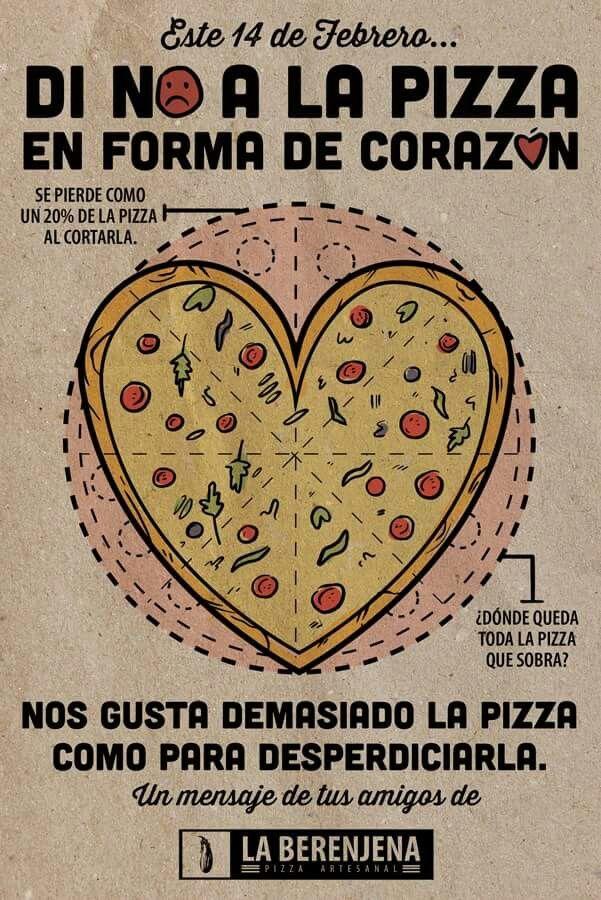 Di no. A ka pizza en forma de corazón