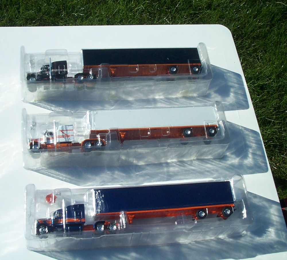 1 64 scale trucks and trailers - Dcp First Gear Set Of Three 1 64 Rare Rollin Tractor Trailer Show Trucks